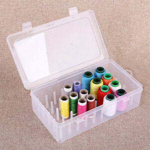 Sewing Thread Storage Box 42 Pieces Spools Bobbin Carrying Case Holder Cr HB C $8.42