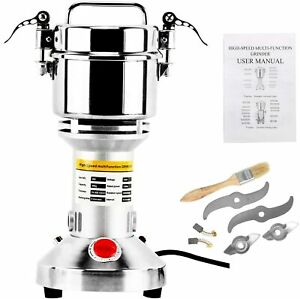 Electric Grinder Mill Grain Corn 1300W Spice Herb Stainless Steel Pepper Coffee