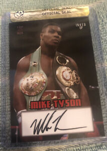 Mike Tyson Top Deck Inked Up Signed Boxing Trading Card Limited Edition $10.00