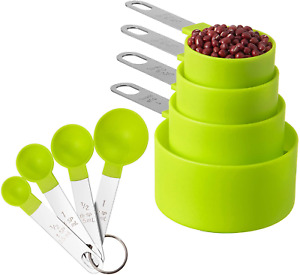 Measuring Cups and Spoons Set of Huygens Kitchen Gadgets 8 Pieces