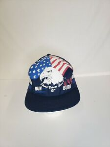 Vintage 1980s These Colors Dont Run Or Burn Lucky 3 Stripe Snapback Hat Three $79.99