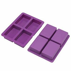 Rectangle Soap Mold 2Pack Large Size Silicone Soap Mold 5oz Sturdy and Durab... $21.89