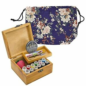 Bettli Sewing Project Kit Wodden Sewing Boxes Organizer with Accessories Kit ... $24.06