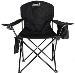 Coleman Camping Chair with Built in 4 Can Cooler Black