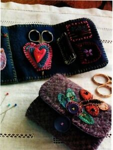 Wool Sewing Wallet Quilt Pattern Pieced Applique RW $6.95