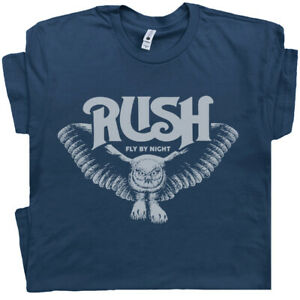 Rush T Shirt Cool Vintage Band Shirts Fly By Night Owl Retro Concert Graphic Tee $17.99