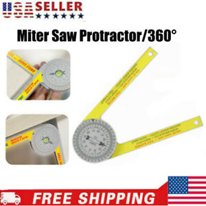 Miter Saw Protractor Dial Accurate Angle Finder with Laser Engraved Scales Tools $8.89