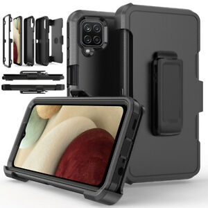 For Samsung Galaxy A12 Shockproof Case Rugged Hard Cover Stand Belt Clip Holster $10.56