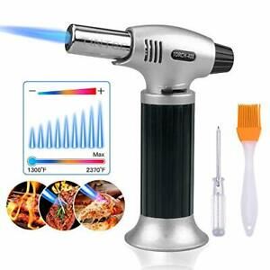 Blow Lighter Kitchen Culinary Torch Chef Cooking Torch Refillabe Flame Adjustabl
