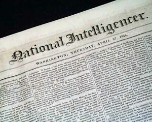 Early Unknown ABRAHAM LINCOLN as Illinois Representative 1849 D.C. Newspaper $64.00