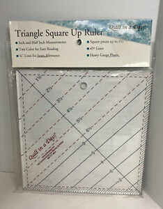 Quilt In A Day 6 1 2 Inch by 6 1 2 Inch Triangle Square Up Ruler $13.49