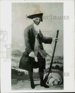 Press Photo quot;Charles III King of Spain in Hunting Dressquot; oil painting