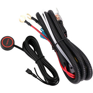 12V Car Horn Wiring Harness Relay Button Switch Kit for Car Truck Train Boat SUV $14.63