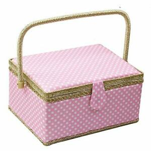 Large Sewing Basket with AccessoriesWooden Sewing Organizer Box for Sewing Su... $56.06