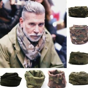 Men Camouflage Scarves Military Soft Tactical Keffiyeh Shemagh Scarf Head Wrap
