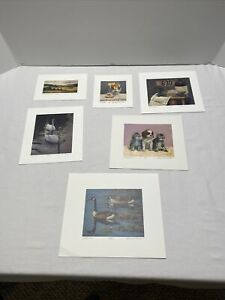 Gerald Lubeck signed lithographs set of 6 $100.00