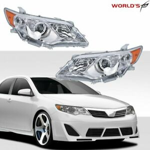 Clear LeftRight Projector Headlights Headlamps For 2012 2013 2014 Toyota Camry $124.86