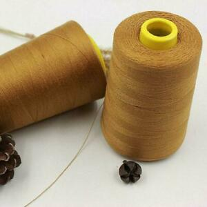 2000m Thick Polyester Thread Upholstry Jeans Denim Button Sew Craft Gold L0Z1. $9.79