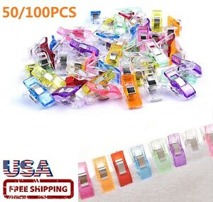 50 100PCS Sewing Clips Multipurpose Sewing Accessories Quilting Supplies Craft $6.80