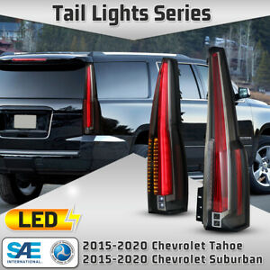 LED Tail Lights for 15 20 Chevy Suburban Tahoe Turn Signal Back Lights Clear Set $399.99