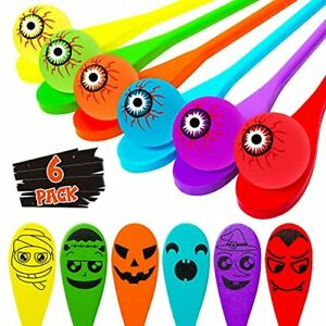 Halloween Party Favors Halloween Egg and Spoon Game Set for 6 Players Kids