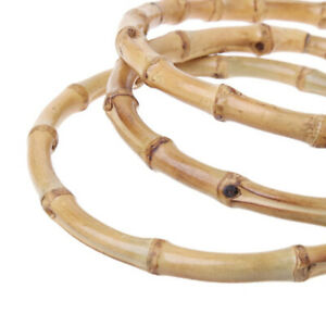 Round Bamboo Handle for Handcrafted DIY Bags Accessories Good Quality 15x15cm
