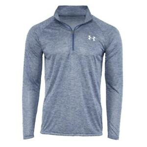 New With Tags Men#x27;s Under Armour 1 2 Zip Tech Muscle Pullover Long Sleeve Shirt $27.99