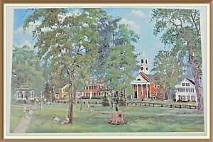 Samuel S. Thorpe Artist LITHOGRAPH Limited Ed Print TOWNSEND COMMON $50.00