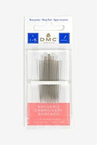DMC 1765 1 5 Embroidery Hand Needles 12 Pack Size 1 5 $1.78