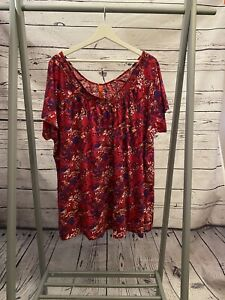 Pink Purple Blue Patterned Evan T Shirt Top Size 22 24 Size 22 Size 24 A8798 GBP 7.99