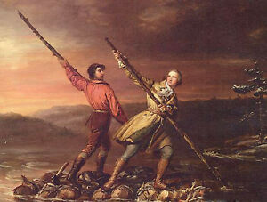 Oil Daniel Huntington George Washington and Christopher Gist on the Allegheny $78.84