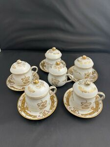 Candrea Hand Painted Japanese Vintage Tea Cup Lid Saucers $29.95
