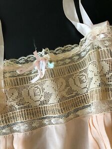 ANTIQUE CLOTHING CIRCA 1900's LOVELY LADIES PINK SILK AND LACE LINGERIE $75.00