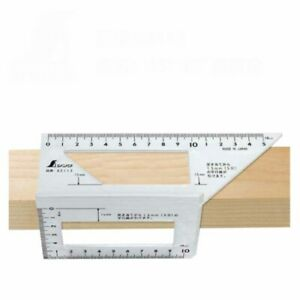Portable Square Multi Function Ruler 45 90 Degree Ruler Woodworking Tool $13.19