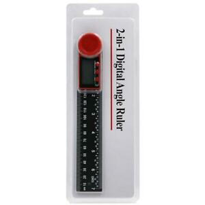 2in1 Digital Protractor Angle Finder Ruler for Crown Trim Woodworking 7quot; 200mm $15.09