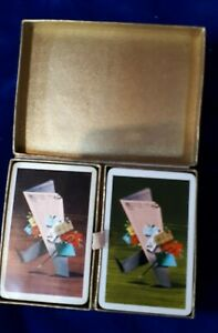 vintage playing cards 2 boxed double sets Financial Times Christmas editions GBP 20.00