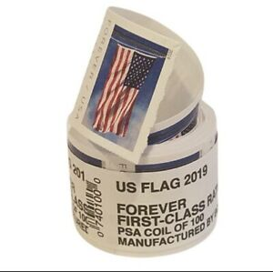 2019 USPS Forever Postage Stamps Sealed Coil Roll Of 100 $55 Value