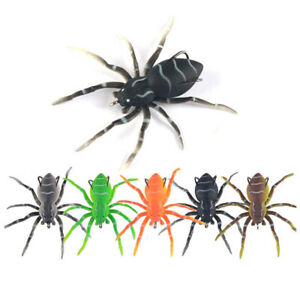 1 5Pcs Spider Soft Bait Silicone Artificial Lures Weedless Fishing 8cm 6 FJ