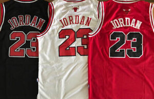 Mens Youth #23 Michael Jordan Chicago Bulls Red Black White Stitched Jersey $33.99