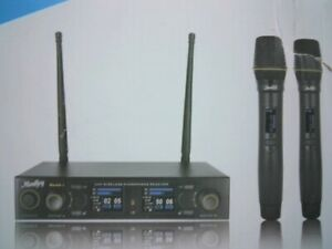MouKey MwmU 1 Rechargeable UHF Dual Channel Wireless Microphone System New $114.99