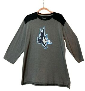Under Armour XL Mens Gray Solid Loose Fit Heatgear 3 4 Sleeve Crew Neck T Shirt $21.98