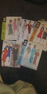 Vintage Sewing Patterns Lot Of 5 McCalls 1970s 1960s $24.99
