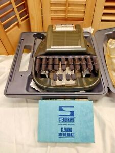 Vintage stenograph Short hand machine and cleaning and oil kit $50.00