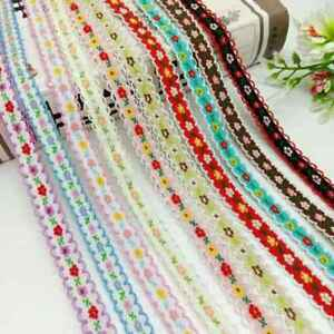 12mm Embroidered Accessories Lace Trim Ribbons Handmade Sewing Crafts 5Yards C $1.81