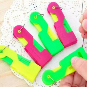10pcs Elderly Use Automatic Easy Sewing Needle Device Threader Thread Guide Tool $6.39