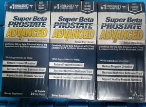 Super Beta Prostate Advanced 3X Active Ingredients 60 Caplets Exp 04 24 lot of 3 $54.00