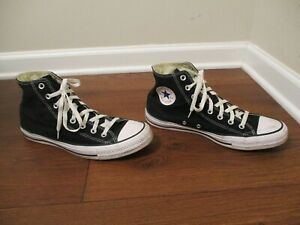 Used Size 11 Fit Like 11.5 12 Converse Chuck Taylor All Star High Shoes Black