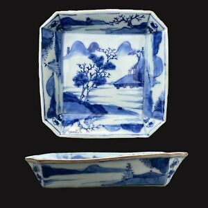 One Antique Chinese Porcelain square dish Kangxi period Qing Dynasty #800 $199.00