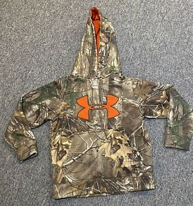 Youth Small Camo Under Armour Hoodie Loose Fit Pocket $14.00