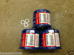 Genuine OEM Honda Oil Filter 3 Three Pack w Washers